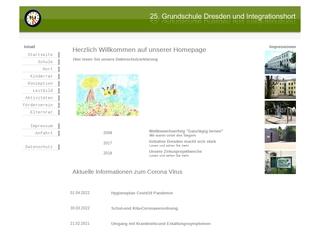 Vorschaubild der Webseite von Hort der 25. Grundschule