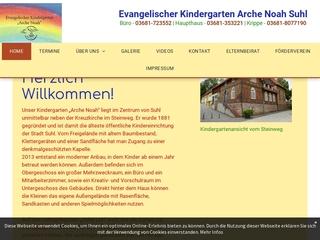 Vorschaubild der Webseite von Ev. Kindergarten Arche Noah