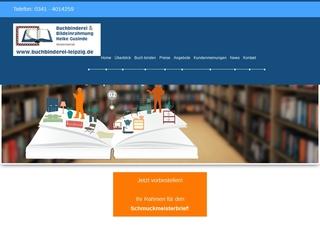 Vorschaubild der Webseite von Buchbinderei Leipzig Heike