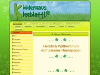Vorschaubild der Webseite von Kinderhaus Kleeblattl