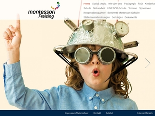 Vorschaubild der Webseite von Montessori Kindergarten