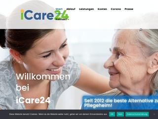 Vorschaubild der Webseite von Pflegedienst iCare24