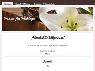 Vorschaubild der Webseite Podologin Elisabeth Kleber