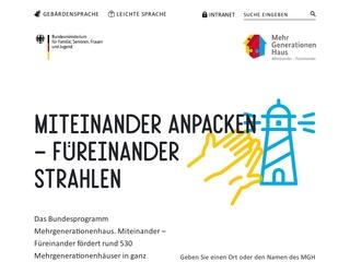Vorschaubild der Webseite von MehrGenerationenHaus Chemnitz