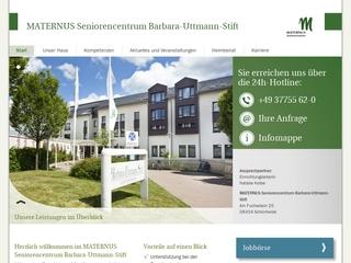 Vorschaubild der Webseite von Alten- und Pflegeheim Barbara-Uttmann-Stift