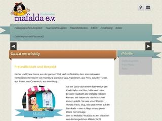 Vorschaubild der Webseite Kindertagesstätte Mafalda