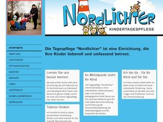 Vorschaubild der Webseite von Kindertagespflege Nordlichter