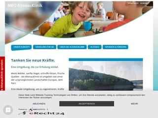 Vorschaubild der Webseite von AWO Altenau Klinik