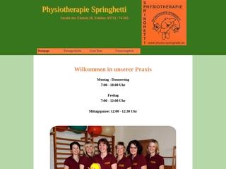 Vorschaubild der Webseite Praxis für Physiotherapie Heike Springhetti