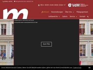 Vorschaubild der Webseite von Musikschule Johann Adam Hiller e.V.