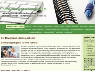 Vorschaubild der Webseite von Bewerbungsdschungel.com - Ihr Bewerbungsratgeber