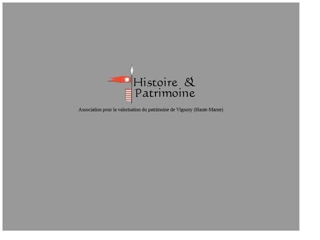 Association Histoire et Patrimoine Vignory