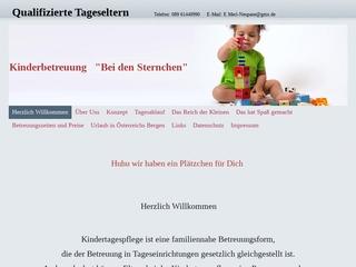 Vorschaubild der Webseite von Kindertagespflege Sternchen