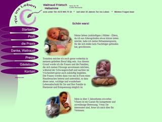Vorschaubild der Webseite Hebamme Waltraud Frietsch