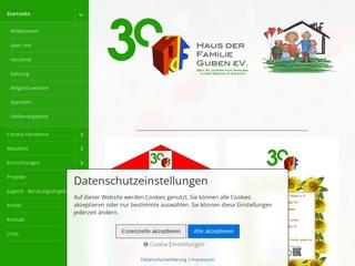Vorschaubild der Webseite von Verein Haus der Familie e.V.