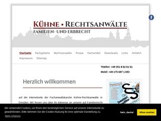 Vorschaubild der Webseite von KÜHNE Rechtsanwälte / Fachanwälte