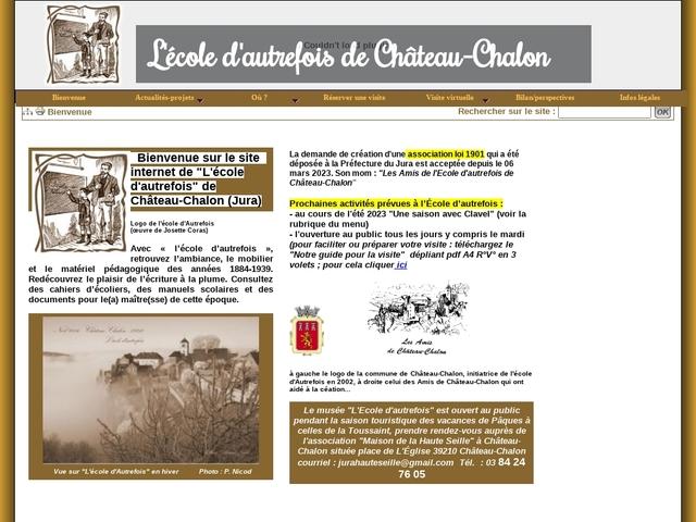 L'école d'autrefois Château-Chalon
