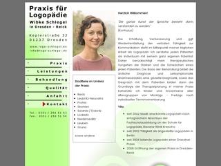 Vorschaubild der Webseite Praxis für Logopädie Wibke Schlegel