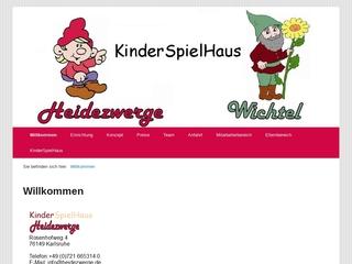 Vorschaubild der Webseite von Kita Heidezwerge
