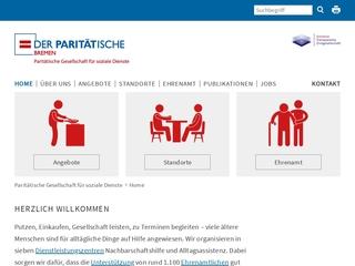 Vorschaubild der Webseite von Dienstleistungszentrum Schwachhausen-Nord der Paritätischen Gesellschaft für Soziale Dienste mbH