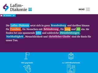 Vorschaubild der Webseite von Fliedners Dienstleistungszentrum