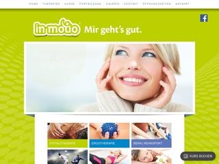 Vorschaubild der Webseite von in motio Therapiezentrum