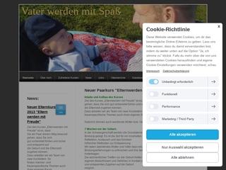 Vorschaubild der Webseite von Vater werden mit Spass - Geburtsvorbereitung für Väter