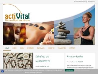 Vorschaubild der Webseite von actiVital Gesundheits- und Yogazentrum