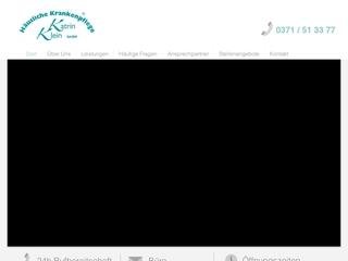 Vorschaubild der Webseite von Pflegedienst Katrin Klein