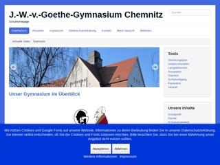 Vorschaubild der Webseite von Johann-Wolfgang-von-Goethe-Gymnasium