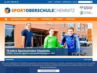 Vorschaubild der Webseite von Sportmittelschule Chemnitz