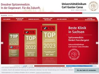 Vorschaubild der Webseite von Carus Akademie am Universitätsklinikum Carl Gustav Carus Dresden AdöR