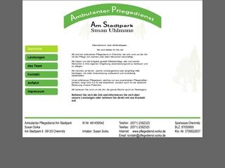 Vorschaubild der Webseite von Ambulanter Pflegedienst Soika