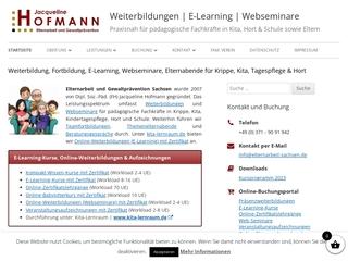 Vorschaubild der Webseite von Elternarbeit und Gewaltprävention Sachsen
