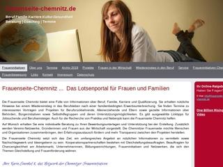 Vorschaubild der Webseite von Frauenseite Chemnitz - Onlineportal für Chemnitzer Frauen