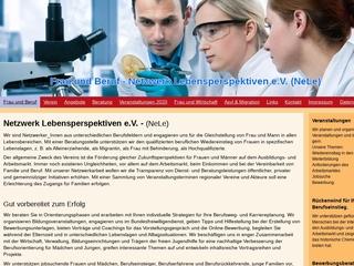 Vorschaubild der Webseite von Netzwerk Lebensperspektiven e. V. NeLe