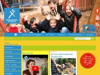 Vorschaubild der Webseite von Kindertagesstätte Hum. Haus für Kinder Regensburg