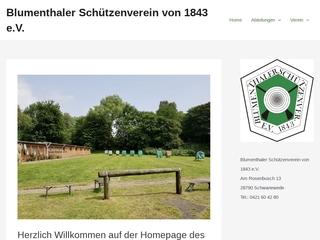 Vorschaubild der Webseite von Blumenthaler Schützenverein von 1843 e.V.
