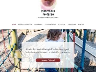 Vorschaubild der Webseite von Kinderhaus Heidesee