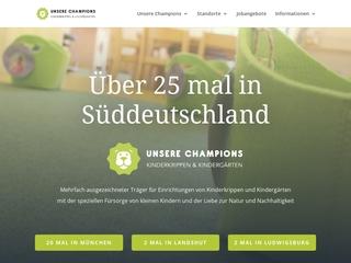 Vorschaubild der Webseite von Kinderkrippe Unsere Champions