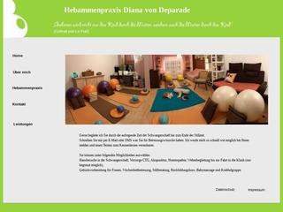 Vorschaubild der Webseite von Hebamme Diana von Deparade