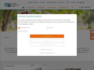 Vorschaubild der Webseite von Orthopädie- u. Rehatechnik Dresden GmbH