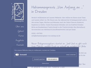 Vorschaubild der Webseite von Hebammenpraxis Von Anfang an