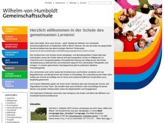 Vorschaubild der Webseite von Wilhelm-von-Humboldt-Gemeinschaftsschule