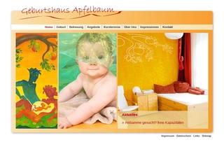Vorschaubild der Webseite von Geburtshaus Apfelbaum