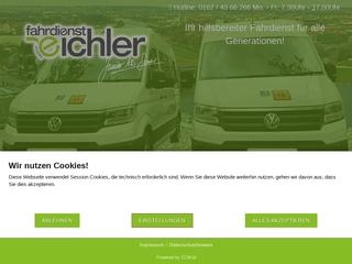 Vorschaubild der Webseite Fahrdienst Eichler