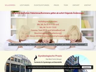 Vorschaubild der Webseite von Gynäkologin Dipl.-Med. Catrin Bünger