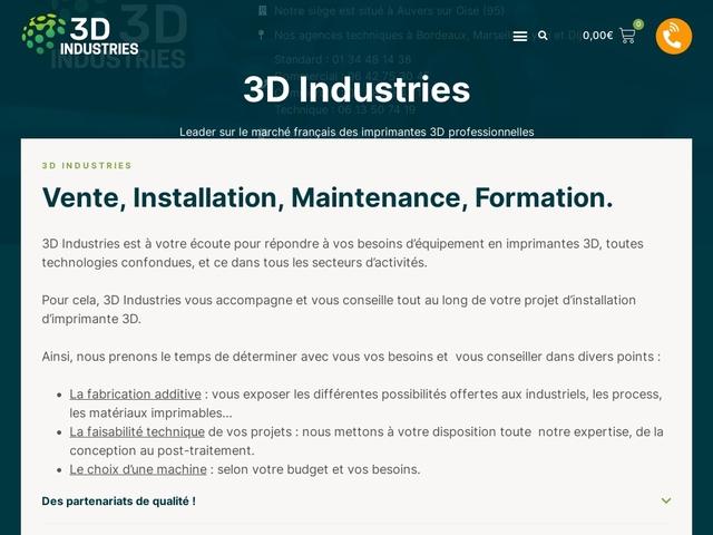 3D Industries - Spécialiste impression 3d