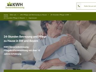 Vorschaubild der Webseite von KWH Seniorenbetreuung