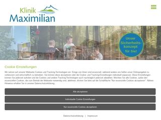 Vorschaubild der Webseite von Kurklinik Maximilian